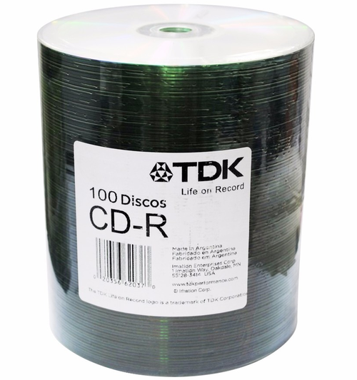 CD - R TDK ESTAMPADO 52X BULK X 100
